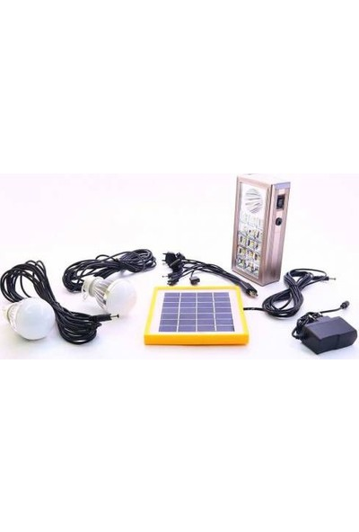 Idea Solar Lamba Seti Şarjlı 2 Lambalı Güneş Enerji Panelli
