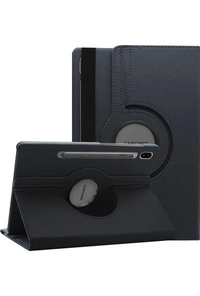 """Microsonic Samsung Galaxy Tab S6 10.6"""" T860 Kılıf 360 Rotating Stand Deri Siyah"""