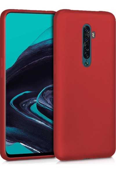 Microsonic Matte Silicone Oppo Reno 2 Kılıf Kırmızı
