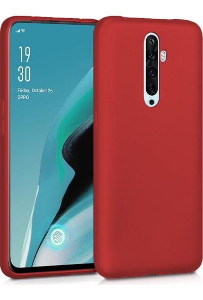 Microsonic Matte Silicone Oppo Reno 2Z Kılıf Kırmızı