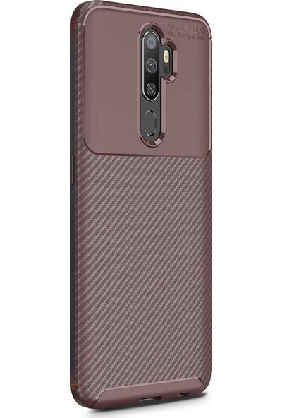 Microsonic Oppo A9 2020 Kılıf Legion Series Kahverengi