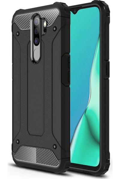 Microsonic Oppo A9 2020 Kılıf Rugged Armor Siyah