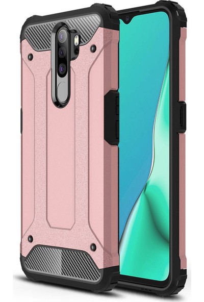 Microsonic Oppo A9 2020 Kılıf Rugged Armor Rose Gold
