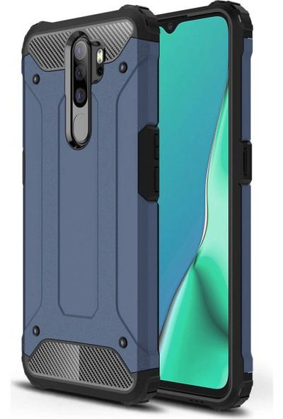 Microsonic Oppo A9 2020 Kılıf Rugged Armor Lacivert