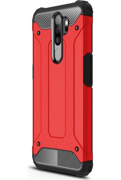 Microsonic Oppo A9 2020 Kılıf Rugged Armor Kırmızı