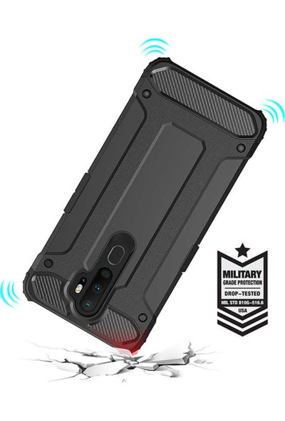 Microsonic Oppo A9 2020 Kılıf Rugged Armor Gold
