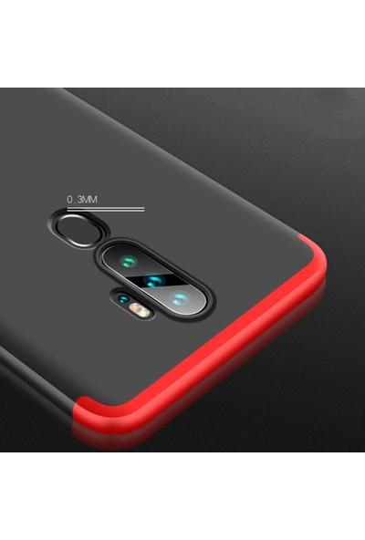 Microsonic Oppo A9 2020 Kılıf Double Dip 360 Protective Siyah - Kırmızı