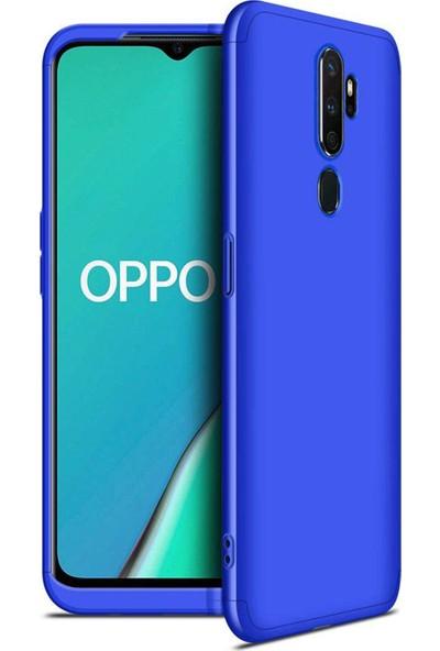 Microsonic Oppo A9 2020 Kılıf Double Dip 360 Protective Mavi