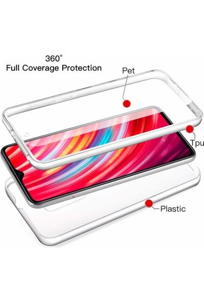 Microsonic Xiaomi Redmi Note 8 Pro Kılıf 6 Tarafı Tam Koruma Şeffaf