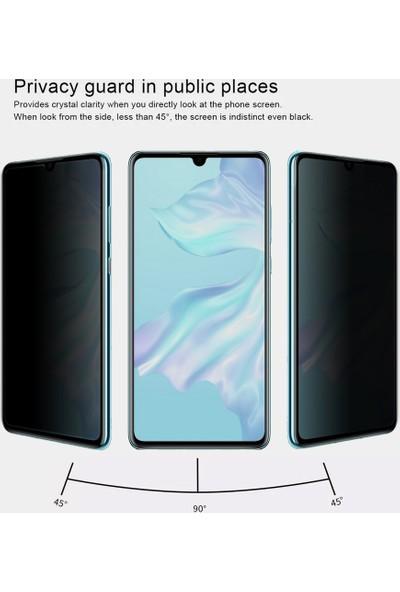 Microsonic Huawei P30 Privacy 5D Gizlilik Filtreli Cam Ekran Koruyucu Siyah