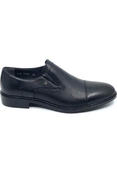Serdar Yeşil Erkek Siyah Deri Klasik Ayakkabı