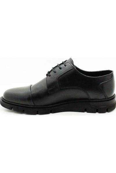 Serdar Yeşil Erkek Siyah Eva Taban Bağcıklı Klasik Ayakkabı