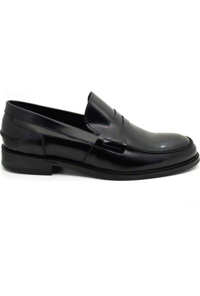 Serdar Yeşil Erkek Siyah Açma Deri Corcik Klasik Ayakkabı
