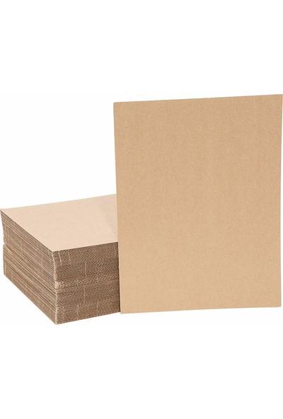 Kraft 50x70cm 3mm Oluklu Mukavva Karton 24'lü Paket Ödev Kartonu - Proje Kartonu