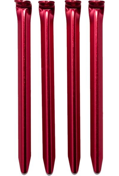 Alpınıst Alüminyum 6061 Çadır Kazığı 16Cm Kırmızı