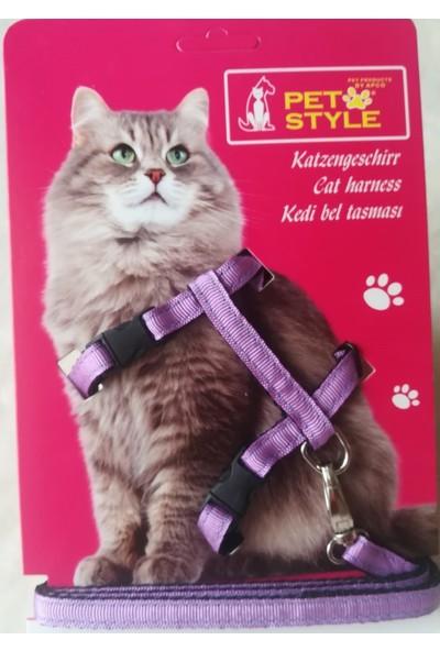 Petstyle Kedi Göğüs Bel Tasması Mor