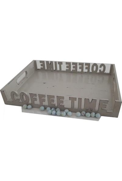 Ahşap Life Coffee El Işçiliği Mdf Tepsi