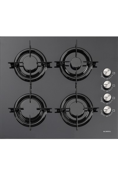 Kumtel Black Argento Button 3'lü Cam Ankastre Set