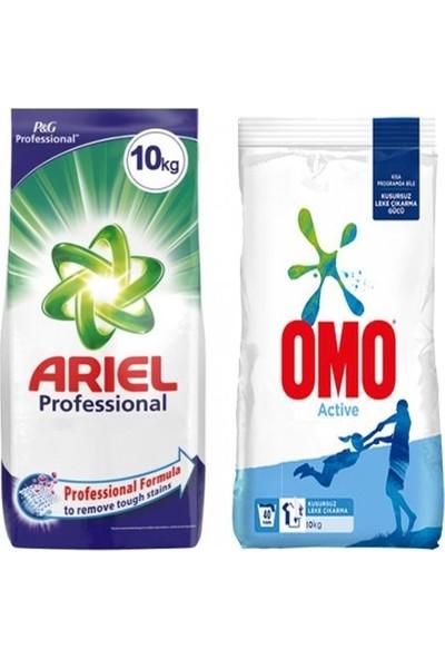 Omo Actıve 10 kg Toz Çamaşır Deterjanı + Ariel Professıonal 10 kg Toz Çamaşır Deterjanı