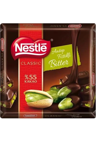 Nestle Classic Bitter Fıstıklı Kare Çikolata 65 gr