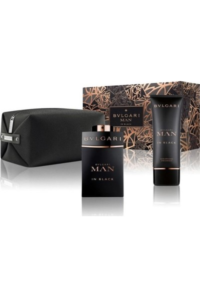 Bvlgarı Man In Black EDP 100 ML + Man In Black After Shave Balm 100 ML + Çanta Erkek Parfüm Seti