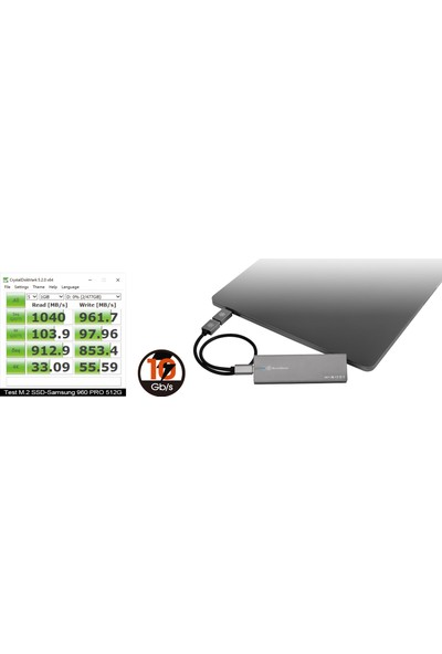 SilverStone MS11C USB3.1 Type A&C - M.2 NVMe Harici Disk Kutusu (SST-MS11C)