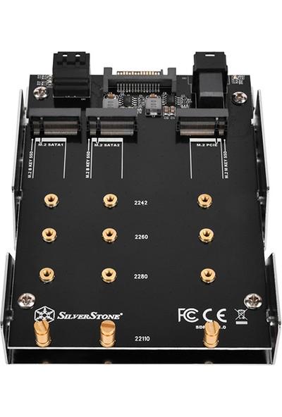 """SilverStone SDP12 3.5"""" 2 x SATA M.2 ve 1 x NVMe M.2 Dönüştürücü (SST-SDP12)"""