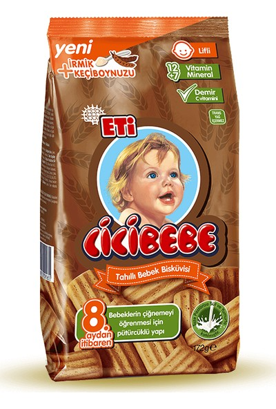Eti Cicibebe Tahıllı Bebek Bisküvisi