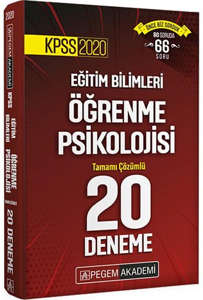 2020 KPSS Eğitim Bilimleri Öğrenme Psikolojisi Tamamı Çözümlü 20 Deneme