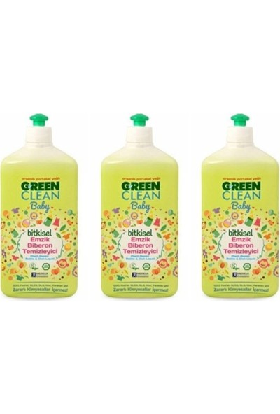 U Green Clean Baby Bitkisel Biberon Emzik Temizleyici 3 x 500 ml