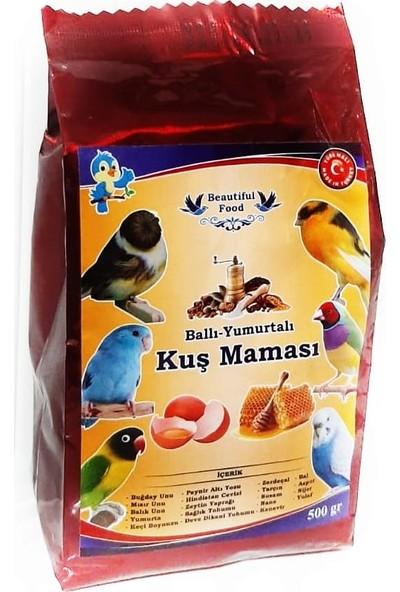 Beautiful Food Ballı Yumurtalı Kuş Maması Kuş Yemi 500 gr