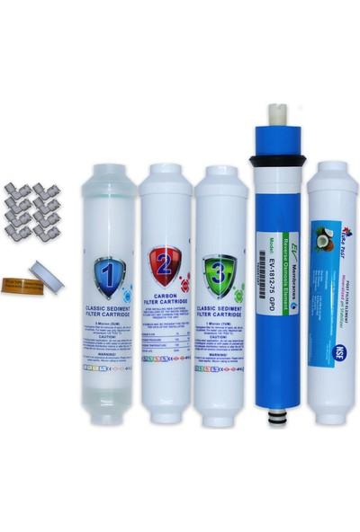 Aqua Clean Su Arıtma Cihazı 5'li Set Bms ve Tezgah Üstü Cihazlara Uyumludur