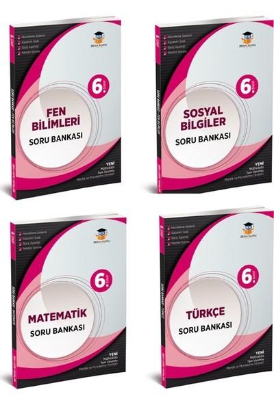 Zeka Küpü Yayınları 6. Sınıf Tüm Dersler Fen Bilimleri-Matematik-Türkçe-Sosyal Bilgiler Branş Soru Bankaları Seti 4 Kitap