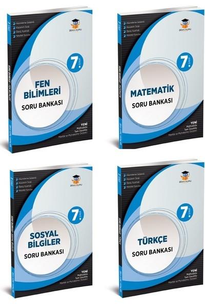 Zeka Küpü Yayınları 7. Sınıf Tüm Dersler Fen Bilimleri-Matematik-Türkçe-Sosyal Bilgiler Branş Soru Bankaları Seti 4 Kitap
