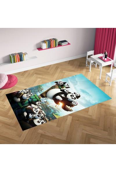 Hometeks Kung Fu Panda Desenli Kaymaz Taban Çocuk Odası Halısı 60 x 100 cm