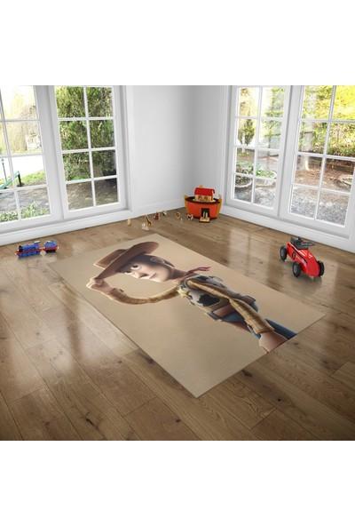 Hometeks Redkit Desenli Kaymaz Taban Çocuk Odası Halısı 60 x 100 cm