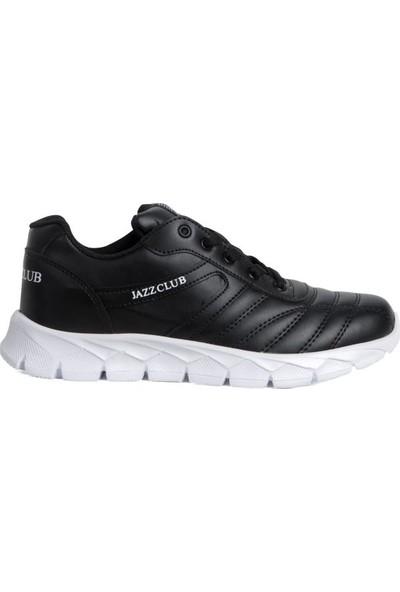 Moda Taraz Erkek Spor - A341 Beyaz Tabanlı Siyah Spor Ayakkabı