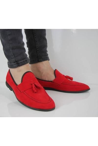 Moda Taraz Erkek Günlük Ayakkabı A188 Yumuşak Hazır Taban Kırmızı Ayakkabı