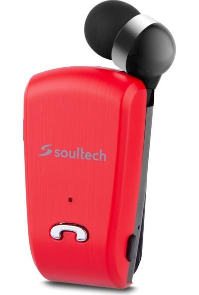 Soultech Color Clıp Comfort Kablosuz Kulakiçi Bluetooth Kulaklık Kırmızı