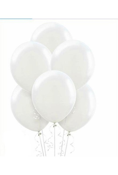 Datapos Metalik Beyaz Balon 30 Adet