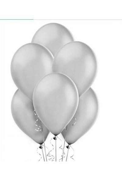 Datapos Metalik Gümüş Gri Balon 20 Adet
