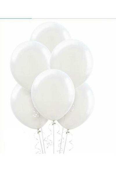 Datapos Metalik Beyaz Balon 10 Adet