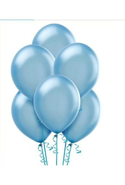 Datapos Metalik Açık Bebek Mavi Balon 100 Adet