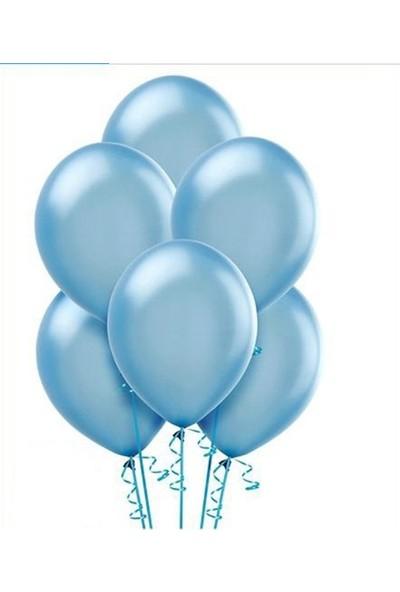 Datapos Metalik Açık Bebek Mavi Balon 10 Adet