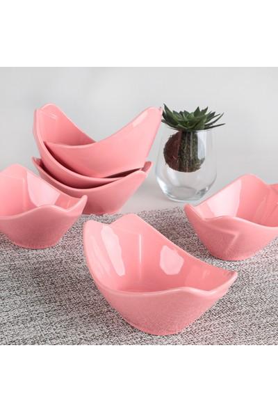 Keramika Pembe Sera Çerezlik/Sosluk 16 Cm 6 Adet