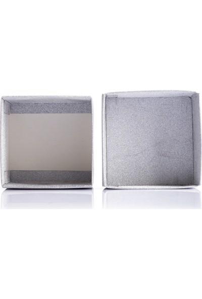 Ambalaj Hikayeleri Karton Kapaklı Kutu 5 Adet Gümüş Simli Işıltılı