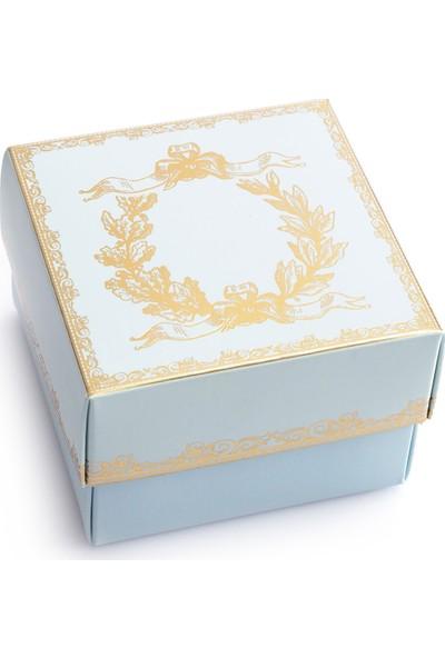 Ambalaj Hikayeleri Karton Kapaklı Kutu 5 Adet Mint Gold Çelenk Varaklı