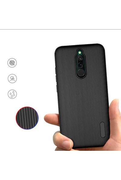 Bizimgross Xiaomi Redmi 8 Kılıf Kamera Korumalı Harrow Kılıf - Siyah