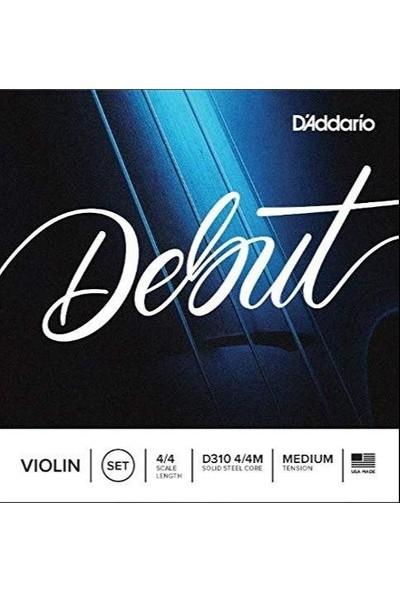D'Addario D310 4/4M Keman Tel Set 4/4 MEDIUM TENSION