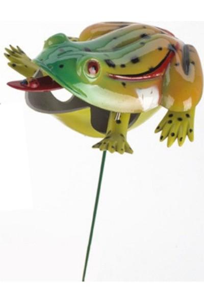 Bosphorus Bahçe Süsü Kurbağa Şekilli Saplamalı Sarı Model
